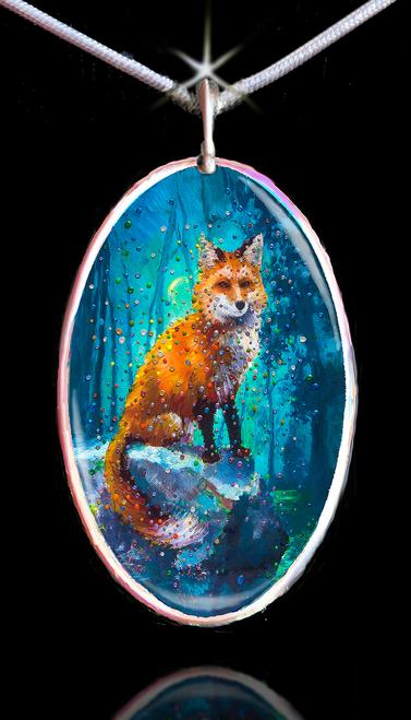 Forest Fox Energy Pendant