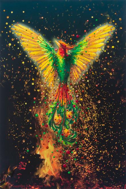 Phoenix Rising Energy Painting - Giclee Print