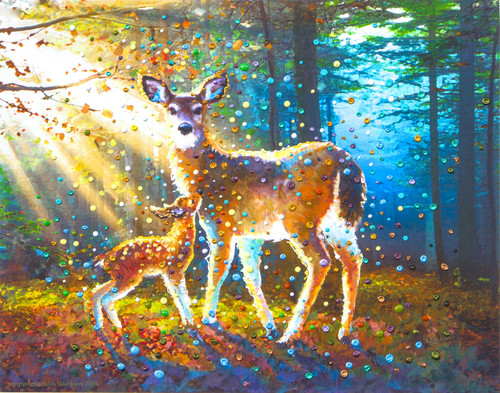 Deer Spirit Energy Painting - Giclee Print