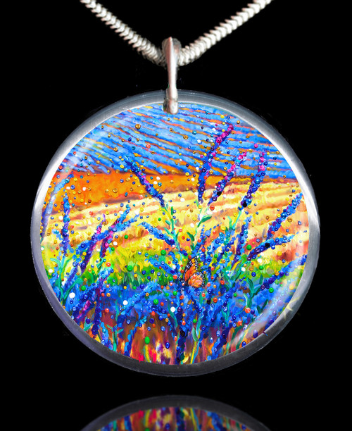 Lavender Fields Sacred Healing Space Pendant