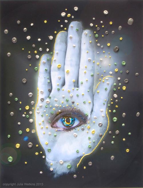 The Hamsa Spiritual Protection Energy Painting - Giclee Print