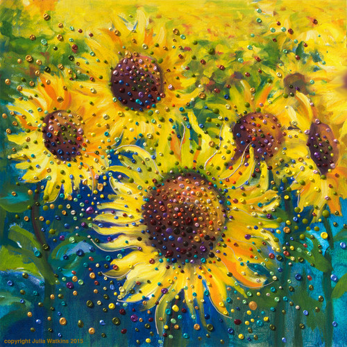 Sunflower Life-Joy Energy Painting - Gicleee Print - Feel happy today