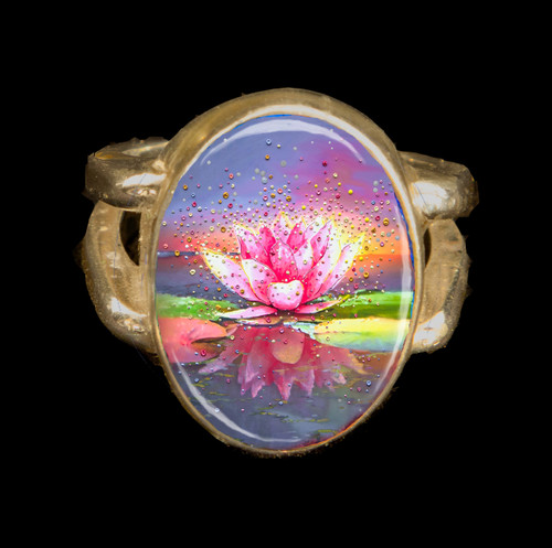 The Pink Lotus Metaphysical Energy Ring