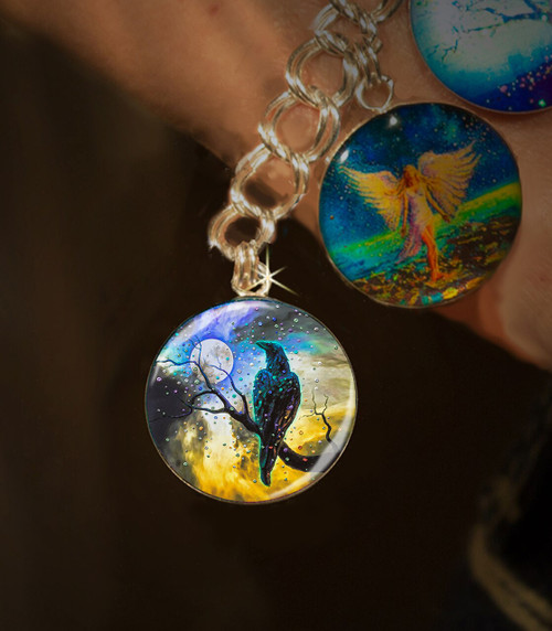 Raven's Moon Energy Charm