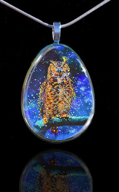Star Owl Pendant - Conduit To Celestial Wisdom