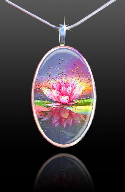 The Pink Lotus Energy Pendant