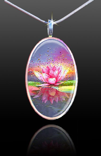 The Pink Lotus Energy Pendant