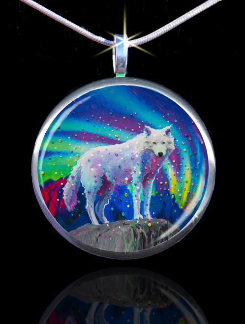White Wolf Spirit Guide Pendant