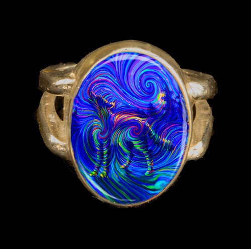 Spirit Wolf - Metaphysical Energy Ring