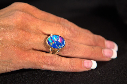 "Blue Dragonfly ""Lifeforce"" Ring"