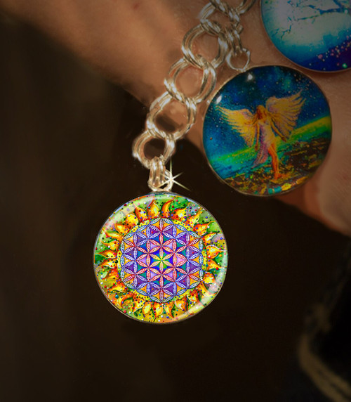 Flower Of Life Sacred Energy Charm