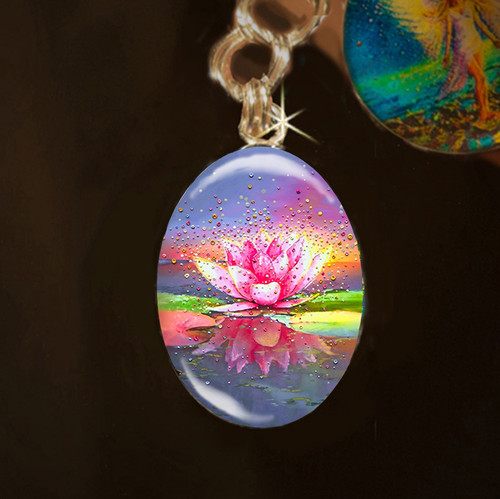 The Pink Lotus Metaphysical Energy Charm