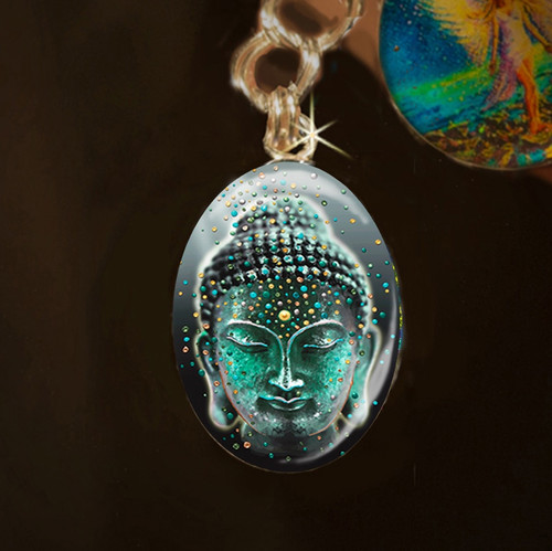 Buddha Deep Serenity Silver Energy Charm - Release your fears and worries