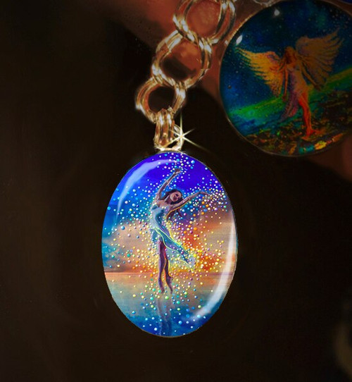 Water Dancer Silver Charm - In each of us is a bright and boundless spirit