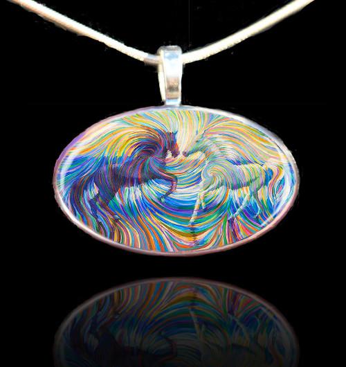 Equus - Yin and Yang Energy Pendant