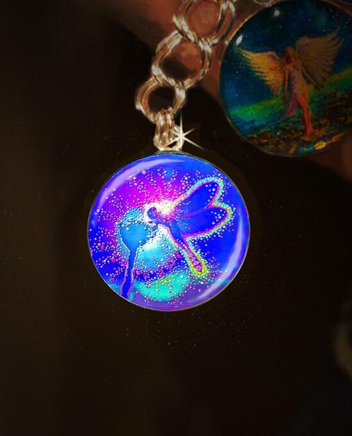 "Blue Dragonfly ""Lifeforce"" Charm"