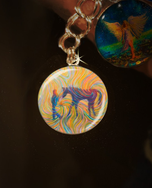 Just Us Horse Energy Charm - Celebrates the lifelong bond between a girl and her horse