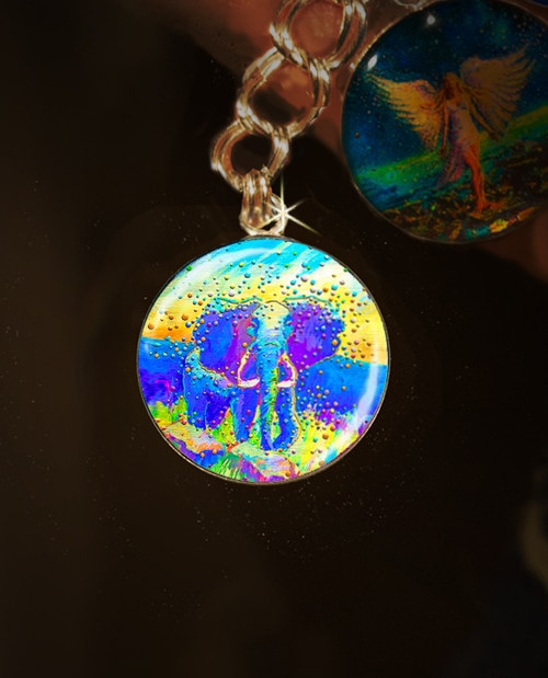 Indigo Elephant Energy Charm - Remover of life's obstacles
