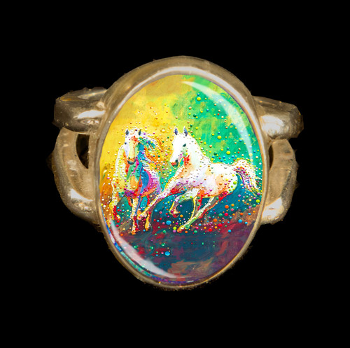 Helios - A Vision Of Light - Metaphysical Horse Energy Ring
