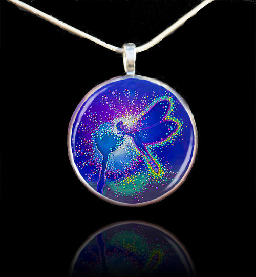Blue Dragonfly Metaphysical Life Force Pendant II - Emits powerful elemental energies
