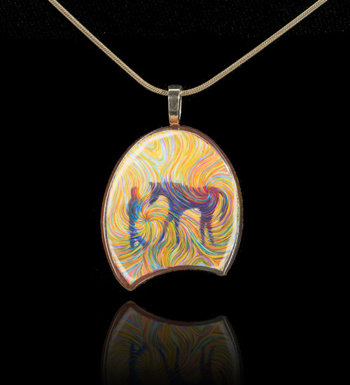 Just Us Pendant - The lifelong bond between a girl and her horse