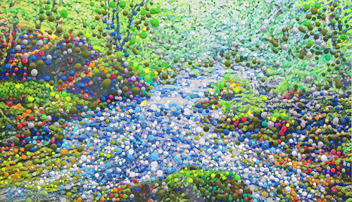 Mountain Spring - The Water Of Life Energy Painting - Giclee Print
