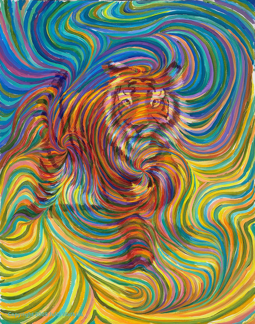 Tiger Totem  Energy Painting - Giclee Print