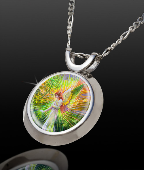 Angel Of Patience Magical Energy Pendant - From The Magical Chi Collection *