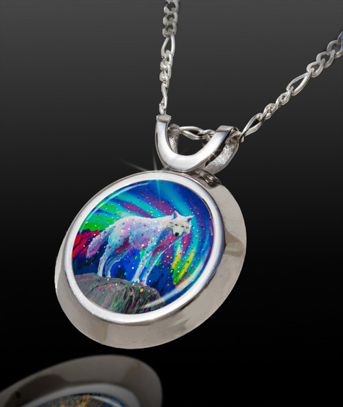 White Wolf Magical Energy Pendant - From The Magical Chi Collection *