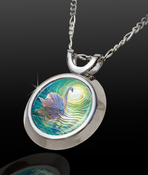 White Swan Magical Energy Pendant - From The Magical Chi Collection *