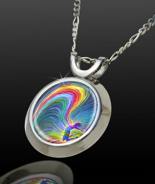 Rainbow Woman Magical Energy Pendant - From The Magical Chi Collection *
