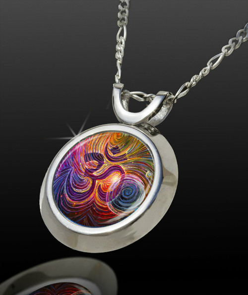 Sacred Om Magical Energy Pendant - From The Magical Chi Collection *