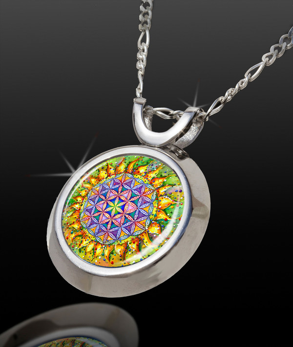 Flower OF Life Magical Energy Pendant - From The Magical Chi Collection *
