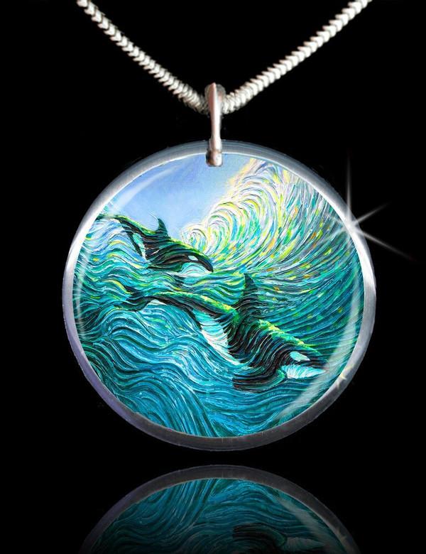 Orca Healing Energy Pendant