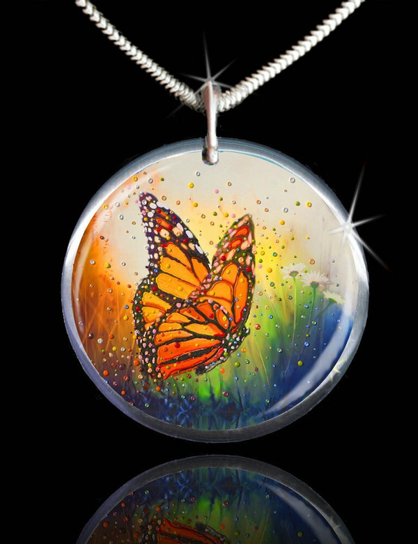 """Butterfly """"In The Moment"""" Energy Pendant"""