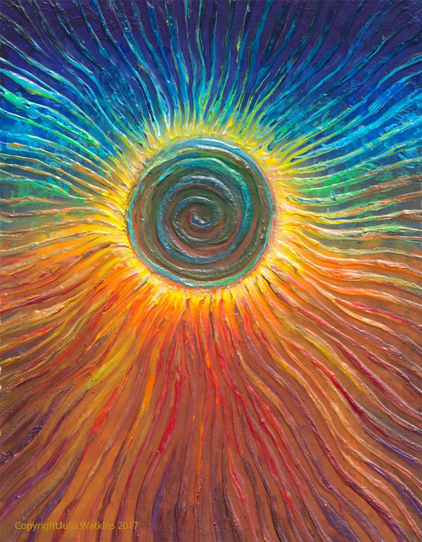The Eclipse Spiritual Awakening Energy Painting - Giclee Print