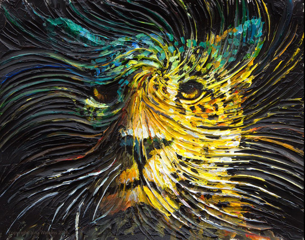 Jaguar Spirit Energy Painting - Giclee Print
