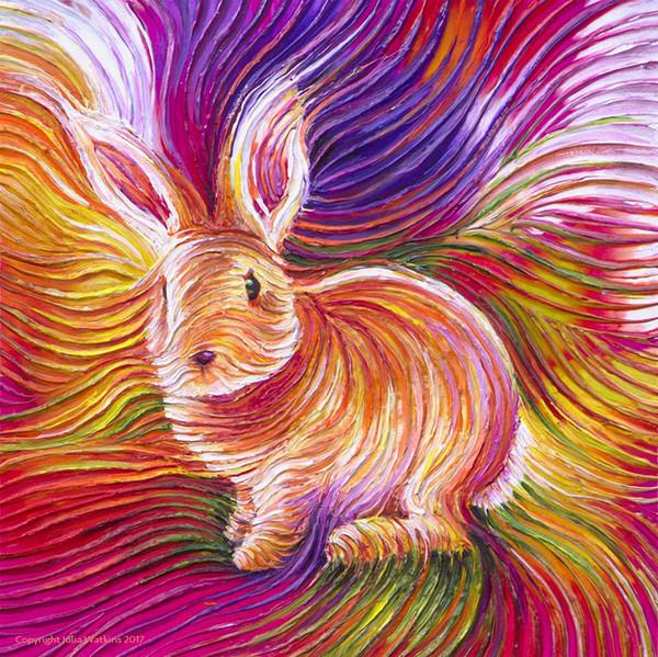 Bunny Love Energy Painting - Giclee Print