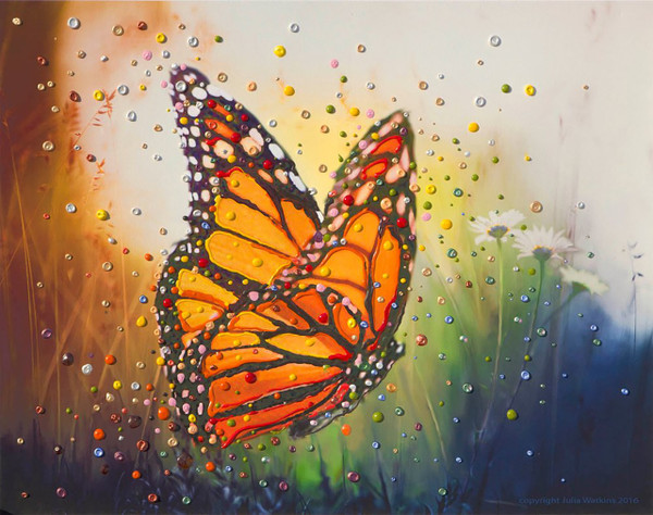 """Butterfly """"In The Moment"""" Energy Painting - Giclee Print"""