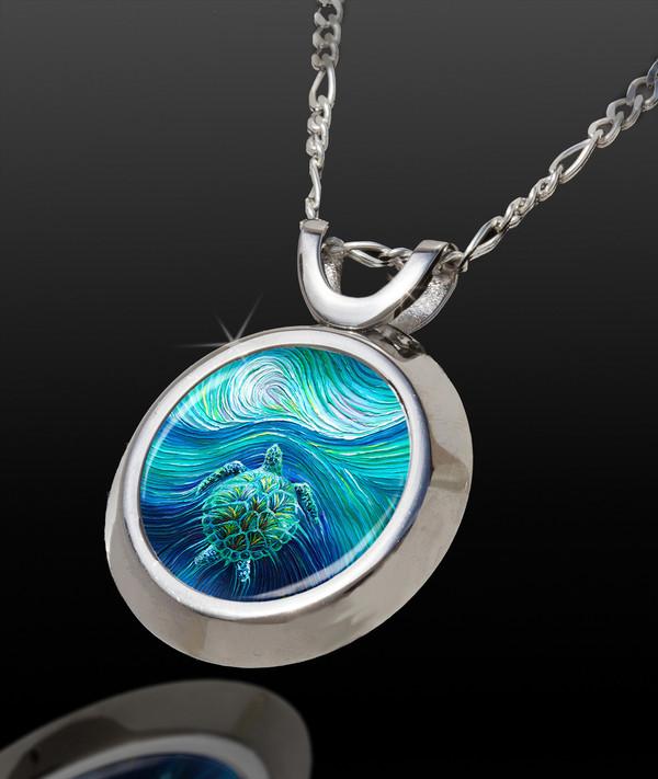 Turtle Spirit Totem Energy Pendant - Magic Chi Collection