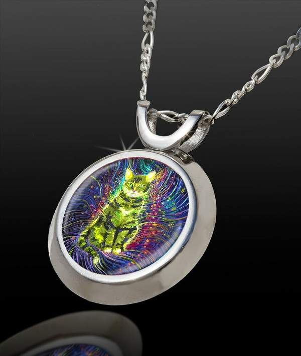 Cosmic Cat Energy Pendant -  From The Magical Chi Collection*