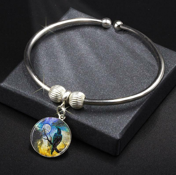 Raven's Moon Energy Charm Bracelet