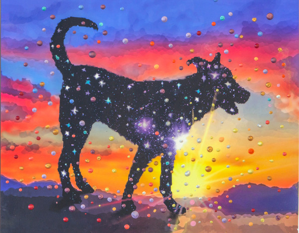 Star Dog - The Spirit Of Pure Love - Energy Painting - Giclee Print