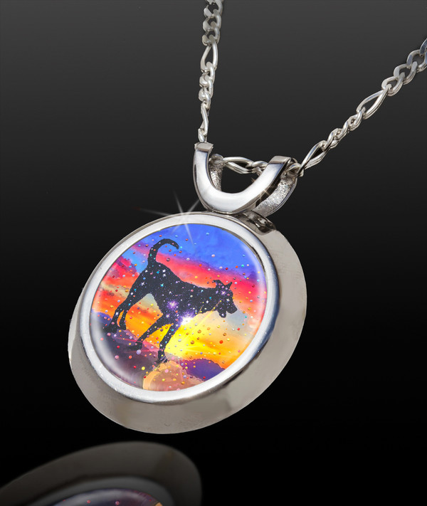 Star Dog - The Spirit Of Pure Love Energy Pendant - From the Magic Chi collection