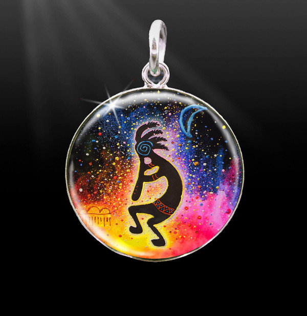 "Kokopelli ""Life Spark"" And Abundance  Energy Charm"