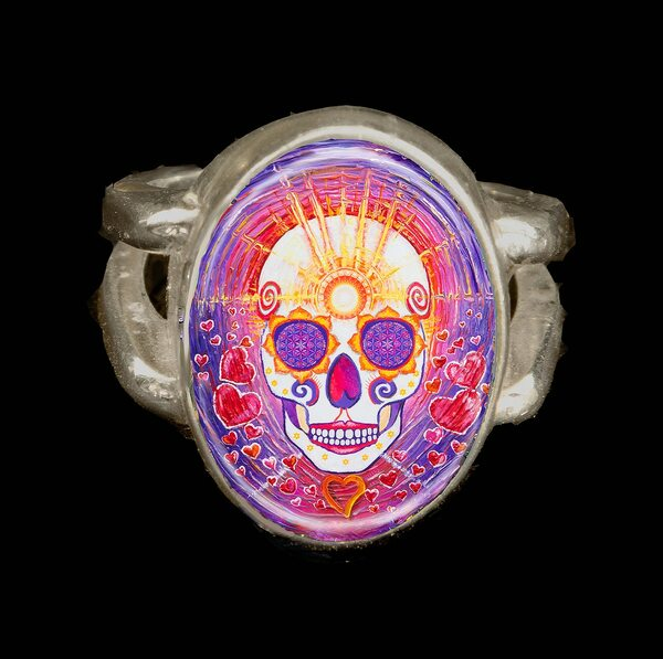 Day Of The Dead Enlightenment Energy Ring
