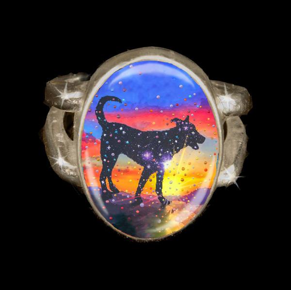 Star Dog  - Spirit Of Pure Love Energy Ring