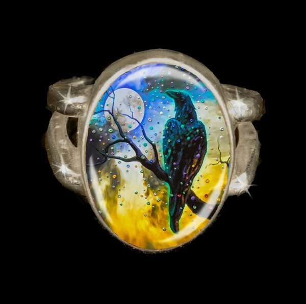 Raven's Moon  Energy Ring