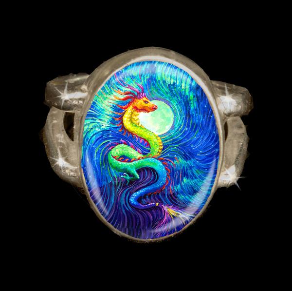 Dragon's Moon Energy Ring