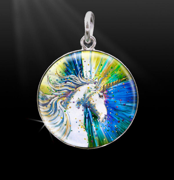 Unicorn Magic Silver Energy Charm